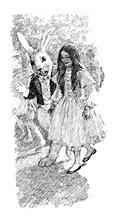 Alice walks with the White Rabbit
