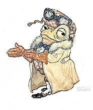Mr Toad, Arrayed in Goggles