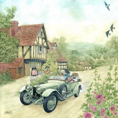 Mister Toad and Friends in a Rolls-Royce