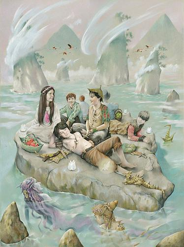 The children often spent long summer days on this lagoon
